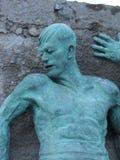 Homem de bronze Fotografia de Stock