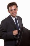 Homem de cabelo escuro dos anos 20 novos consideráveis Fotografia de Stock