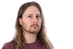 Homem de cabelos compridos Fotos de Stock Royalty Free