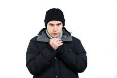 Homem de congelação imagens de stock royalty free
