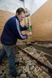 Homem de demolição Fotos de Stock Royalty Free