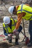 Homem de Driebergen dois da escavação da arqueologia Imagens de Stock Royalty Free