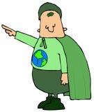 Homem de Eco Foto de Stock