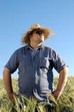 Homem de encontro ao céu azul Imagem de Stock Royalty Free