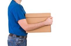 Homem de entrega. Imagens de Stock