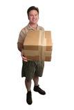 Homem de entrega - completamente - vista fotografia de stock royalty free