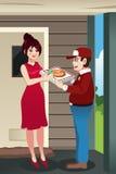 Homem de entrega da pizza Fotografia de Stock