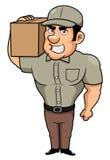 Homem de entrega dos desenhos animados Fotos de Stock Royalty Free