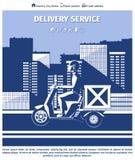 Homem de entrega na motocicleta Imagem de Stock