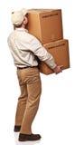 Homem de entrega no dever Imagens de Stock