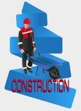 Homem de funcionamento construção Fotos de Stock Royalty Free