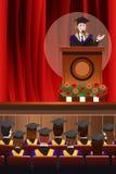 Homem de graduação que dá um discurso Imagem de Stock Royalty Free