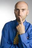 Homem de hesitação Imagens de Stock Royalty Free
