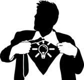 Homem de idéias super Imagem de Stock Royalty Free