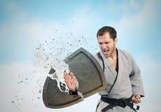 Homem de Krate na ação Imagem de Stock Royalty Free