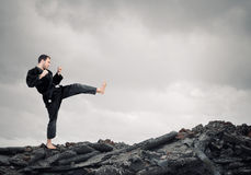 Homem de Krate na ação Imagens de Stock Royalty Free