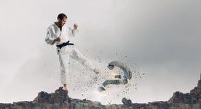 Homem de Krate na ação Fotografia de Stock