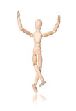 Homem de madeira, mão acima Imagem de Stock Royalty Free