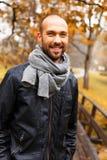 Homem de meia idade positivo no dia do outono Imagens de Stock