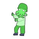 homem de monstro cômico dos desenhos animados Imagens de Stock