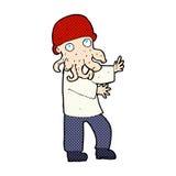 homem de monstro cômico dos desenhos animados Imagem de Stock