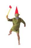 Homem de monstro com os machados isolados Fotografia de Stock