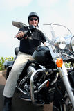 Homem de Motorcylce Fotografia de Stock