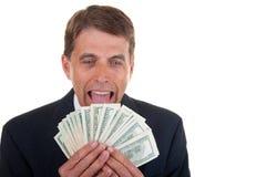 Homem de negócio ávido Imagens de Stock Royalty Free