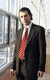 Homem de negócio amigável fotografia de stock