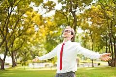 Homem de negócio ao ar livre Fotos de Stock Royalty Free