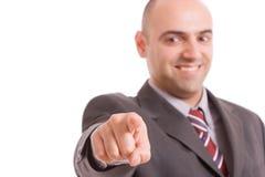 Homem de negócio, apontando para a frente Imagens de Stock