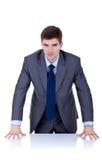 Homem de negócio atrás da mesa Fotos de Stock