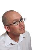 Homem de negócio calvo Eyed azul Imagens de Stock Royalty Free