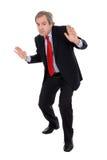 Homem de negócio cauteloso imagens de stock royalty free