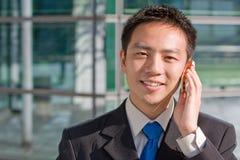Homem de negócio chinês asiático Fotografia de Stock