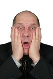 Homem de negócio choc Fotografia de Stock Royalty Free