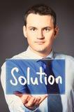 Homem de negócio com ícone Foto de Stock
