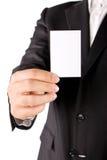 Homem de negócio com cartão Fotos de Stock Royalty Free