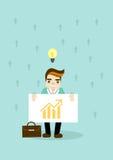 Homem de negócio com carta e ideia Fotos de Stock