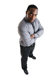 Homem de negócio com mãos dobradas Fotografia de Stock
