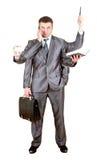 Homem de negócio com muitas mãos Imagens de Stock