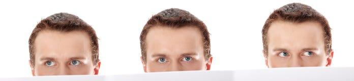 Homem de negócio com papel em branco Fotos de Stock