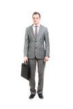 Homem de negócio com pasta Foto de Stock Royalty Free