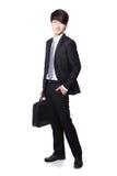 Homem de negócio com pasta Imagens de Stock
