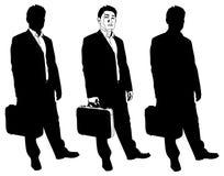 Homem de negócio com pasta ilustração royalty free