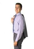Homem de negócio com revestimento Foto de Stock Royalty Free