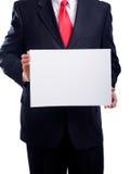 Homem de negócio com sinal foto de stock