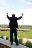 Homem de negócio com telefone Imagem de Stock Royalty Free