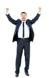 Homem de negócio considerável entusiasmado fotos de stock royalty free