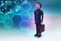 homem de negócio 3d com pasta Foto de Stock